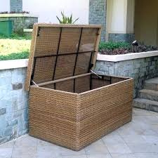 pool storage box outdoor small garden deck patio bunnings seat