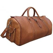 details about 20 real brown leather duffle bag sports gym bag weekend travel aircabin luggage