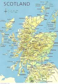 online maps scotland physical map