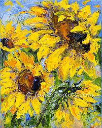 sunflower flower oil painting