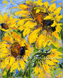 sunflower flower oil painting