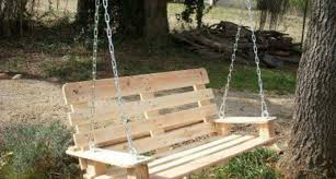 Swing Made Out Pallets Stuff Pinterest
