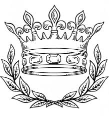 Small Picture Coloring Page Of A Crown Kids Drawing And Coloring Pages Marisa