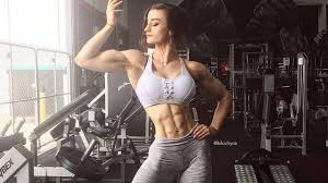 Sexy muscle fitness women