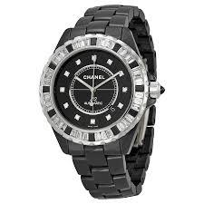 chanel online chanel male chanel j12 automatic black diamond dial black ceramic mens watch h2024