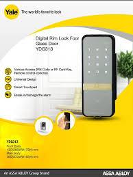 yale digital lock for glass door