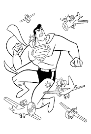 Small Picture Fighting Superman Coloring Pages For Preschoolers Super Heroes