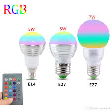 Remote Control Light Bulbs Uk E27 E14 Led 16 Color Changing Rgb Magic Light Bulb Lamp 85 265v 110v 120v 220v Rgb Led Light Spotlight Ir Remote Control