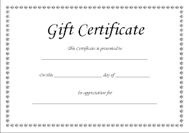 Sample Gift Certificate Templates Free Template Lab