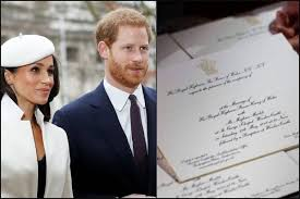 There were explanations of heraldic iconography, and interviews with people who run charities supported by prince harry and meghan markle. Here Is How Royal Wedding Invitations Of Prince Harry And Meghan Markle Look Like Eventznu Com