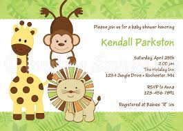 jungle baby shower invitation templates com jungle baby shower invitations templates baby wall