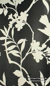 kid wallpaper usa mylar. Birds In Trees Velvet Flocked Wallpaper Ebony And White From The Plush Collection By Burke Kid Usa Mylar