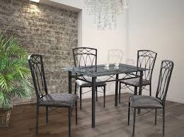 marvelous glass small kitchen table and metal chairs set with seat cushion featuring stunning glass chandelier