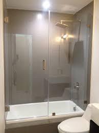 Euro Frameless Sliding Tub Shower Doors Bathtub American Standard ...