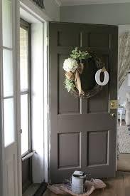 brown front doorGrace Lee Cottage Painted  Distressed Front Door A Tutorial