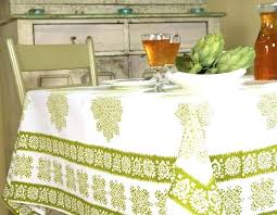 cotton french country geometric tablecloth square x inches table linen linens tablecloths
