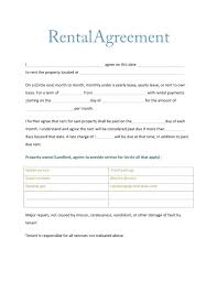 Month To Month Rental Agreement Template Month Lease Agreement Template Rental To Word South Africa