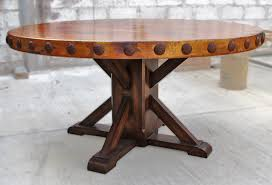 rustic round dining room table best 25 inside ideas 0