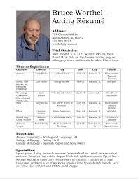 Comprehensive Resume Template Actors Resume Template Resume Example Acting Resume Templates 25