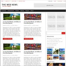 Newspaper Website Template Free Download The Web News Template Free Website Templates In Css Html