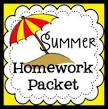 summer holiday homework front page