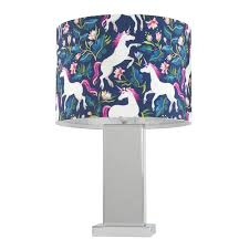 Savoy Touch Table Lamp With Unicorn Shade Value Lights