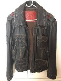 superdry leather jacket m brown rider er mens superdry brown superdry superdry windcheater l 100 top quality