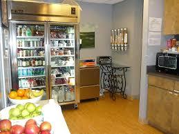 fridges glass door kitchen design with glass door fridge wooden floor grey walls black microwave and fridges glass door