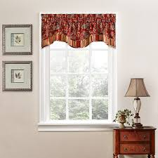 com traditions by waverly 14312052016cri navarra fl 52 inch by 16 inch window valance crimson home kitchen