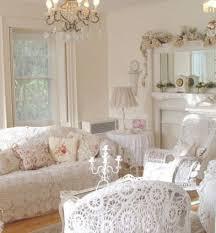 15 Marvelous Shabby Chic Living Room: 15 Marvelous Shabby Chic Living Room  With Pink White Sofa And Classic Chandelier Design