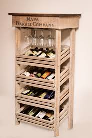 Wine Racks For Cabinets Napa Vineyard Crate Wine Rack And Cabinet