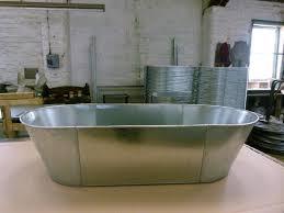 tin bath front view