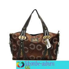 In Coffee Coach Logo Monogram Medium Totes