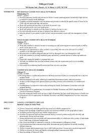Community Health Worker Resume Sample Community Health Worker Resume Samples Velvet Jobs 1