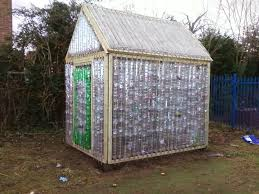 making a greenhouse from recycled plastic bottles