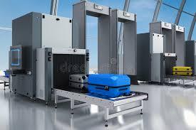 Контрольно пропускной пункт службы безопасности аэропорта Стоковое   Контрольно пропускной пункт службы безопасности аэропорта Стоковое Фото изображение 97351870