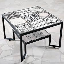 Black Spider Tiles Table