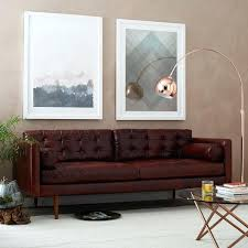 modern leather sofa latest leather mid century modern sofa mid century leather sofa west elm modern