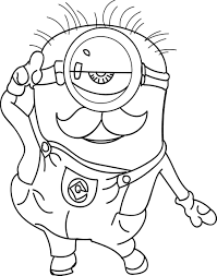 Small Picture Colering Pages Minions Bob Coloring Coloring Pages