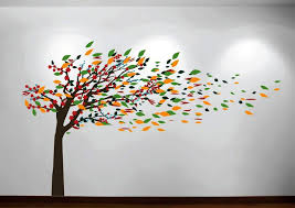 image of big tree wall decals for nursery