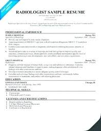 Resume For Radiologic Technologist Best X Ray Technician Resume Templates Ct Tech Salary Sample For A