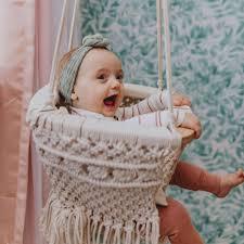 Macrame Baby Swing 100 Organic Cotton Finn Emma