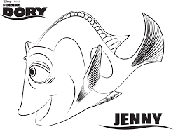 Dory Coloring Pages Nemo And Colouring Fish Pageing Printable Pdf