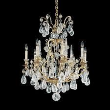 schonbek versailles 8 light rock crystal chandelier