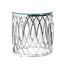 metal and glass side table black silver metal glass side table decoration and metal and glass side table
