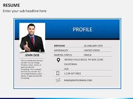 Resume PPT cover slide Resume PPT slide 1 ...