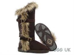 UGG Boots Fox Fur tall 1984 Chocolate ugg G98w8554