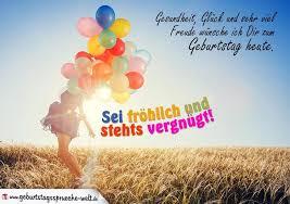 Fröhliche Geburtstagskarte Mit Dem Spruch Gesundheit Glück Und