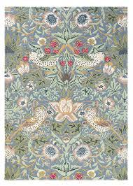 William Morris Rug Designs Morris Co Strawberry Thief Slate 27718
