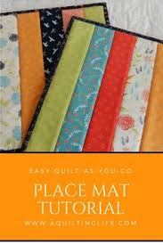 Easy Quilt As You Go Placemats | Tutorials, Learning and Easy & Tutorial for quilt as you go easy strip place mats. Adamdwight.com